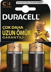 Duracell - Duracell Alkalin C Orta Boy Pil 2'li Paket